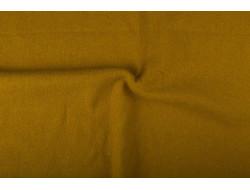 Tissu laine bouillie ocre
