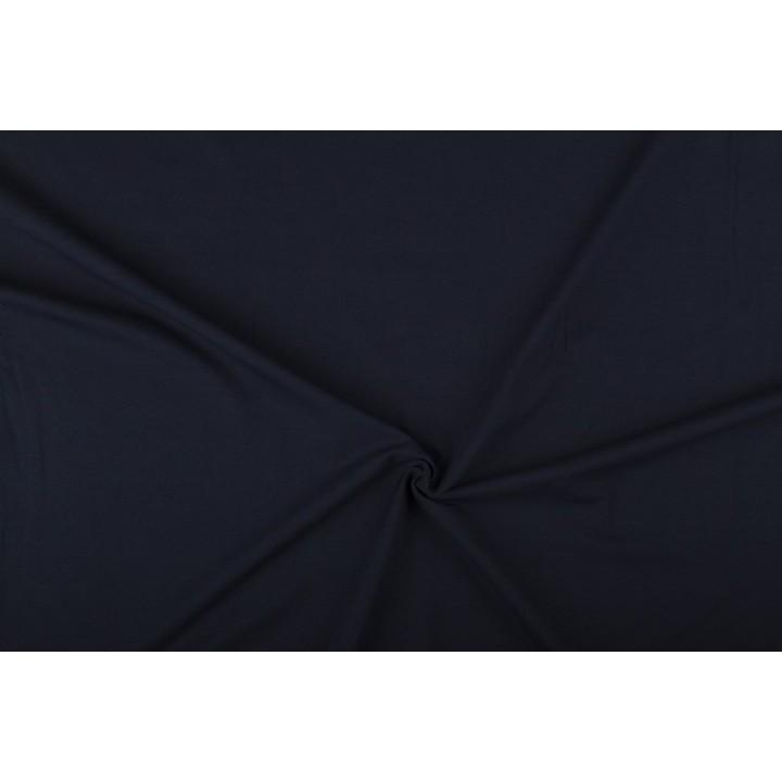 Tissu jersey Bleu marine