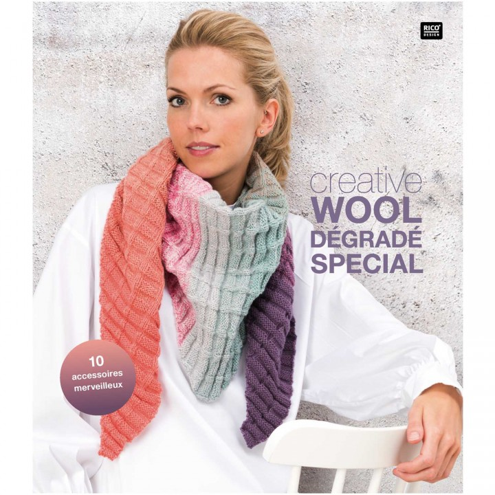 Livre Creative wool dégradé spécial - Rico Design