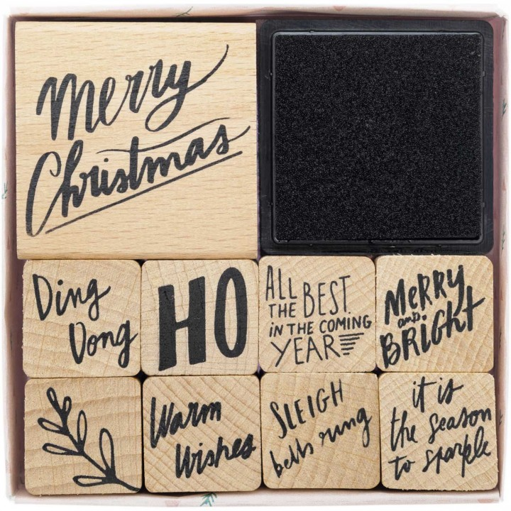 Lot de tampons Jolly Christmas - Rico Design