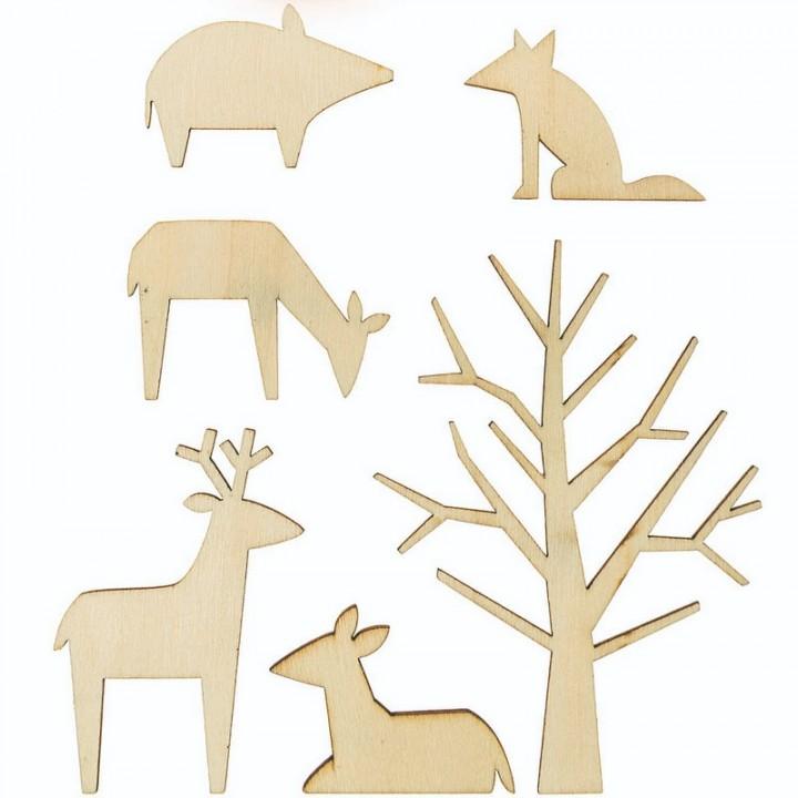 Décoration bois animaux forestier