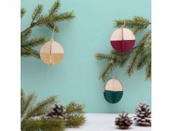 Boules en bois 3D décoratives