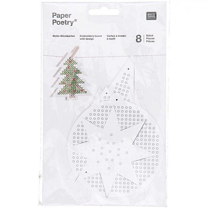 Carton à broder motif de Noël