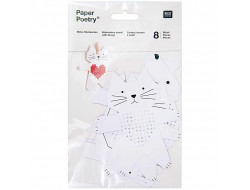 Carton à broder motif animaux Rico Design