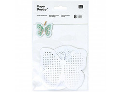 Carton à broder motifs papillon et œuf