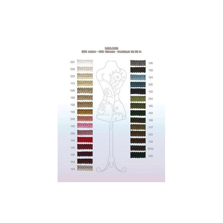 Galon ruban passementerie - Plusieurs coloris