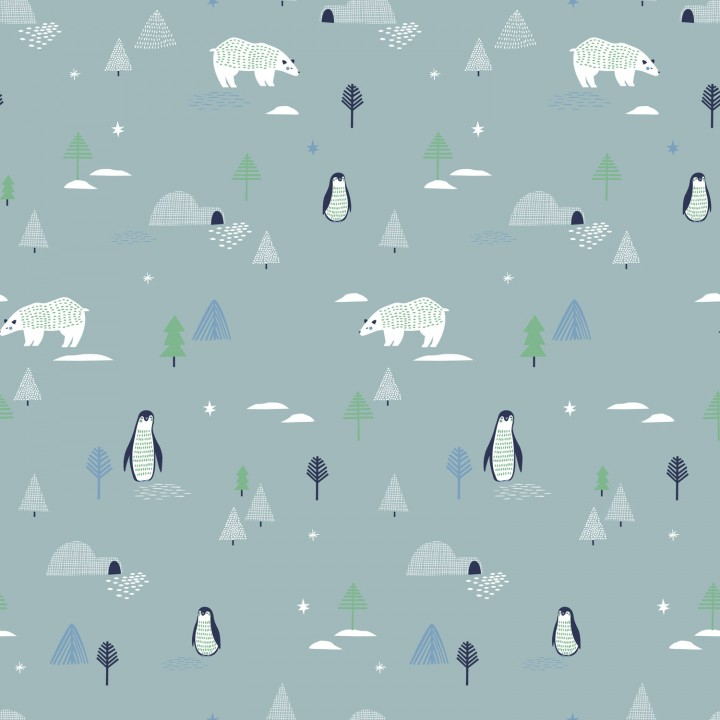 Tissu popeline North Landscape, Katia fabrics
