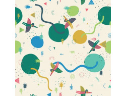 Tissu molletonné  Prehistoric Landscape, Katia fabrics