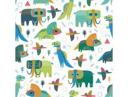Tissu popeline Prehistoric Dinos, Katia fabrics