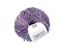 Laine Tweed super chunky 50 gr Rico 50% Laine 45% Acrylique  5% Viscose