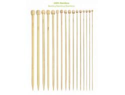 Aiguilles à tricoter du 2.50 mm au 10 mm bambou - 35 cm