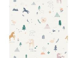 Tissu popeline Unicorn Landscape, Katia fabrics