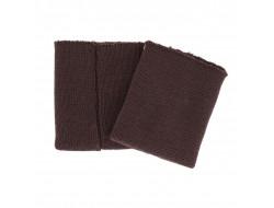 Poignets bords côtes spécial blouson cuir marron