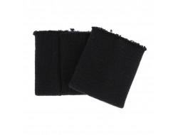 Poignets bords côtes spécial blouson cuir noir