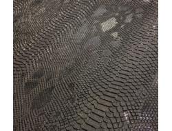 Simili cuir Alligator - Noir