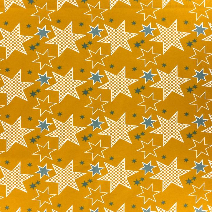 Jersey imprimé stars - coton bio - 150cm