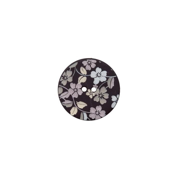 Bouton fleuri sur fond noir