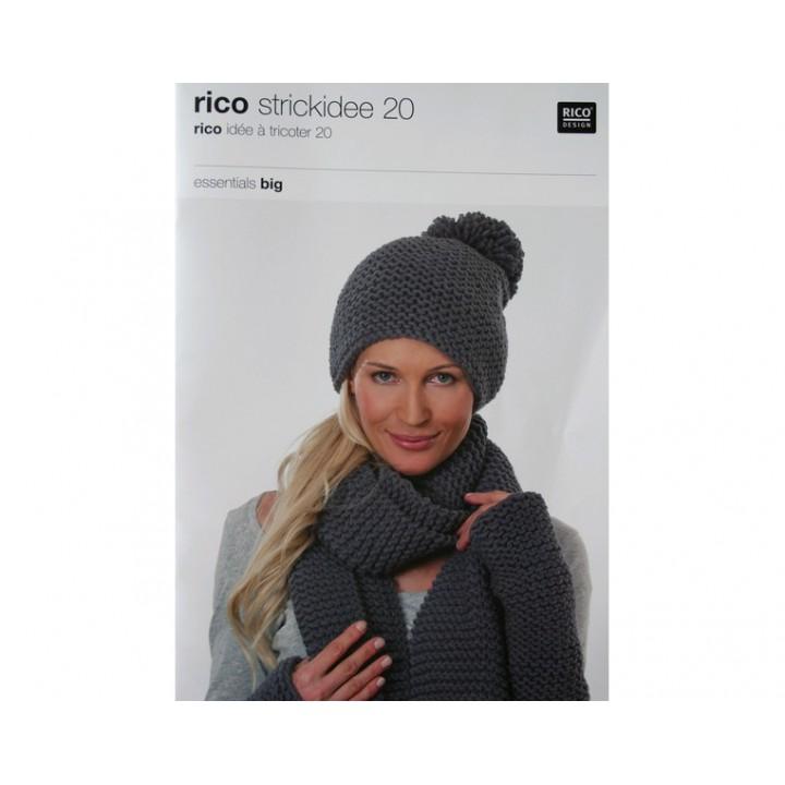Idée à tricoter N°20 - Essentials Big - Rico Design