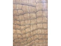 Tissu simili cuir - écaillé Camel