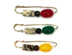 Épingle kilt avec perles - Plusieurs coloris
