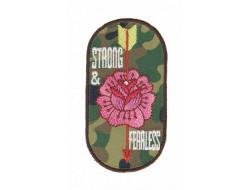 Écusson fleur/militaire thermocollant