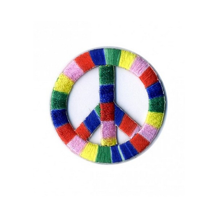 Écusson peace and love thermocollant multicoleur