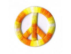 Écusson peace and love thermocollant