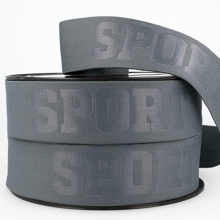 Élastique 3D Sport Gris- 40 mm