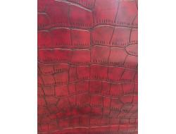 Tissu simili cuir - écaillé rouge