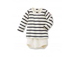 Body T-Shirt marinière bébé - Petit Bateau