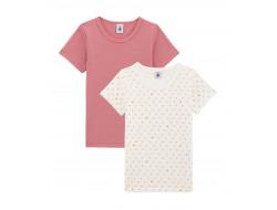 Duo de tee-shirts fille manches courtes - Petit Bateau
