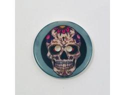 Bouton tête de mort Mexicaine