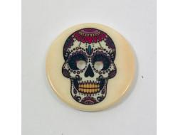 Bouton tête de mort Mexicaine 2