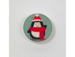 Bouton pingouin de noël