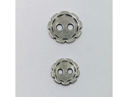 bouton métal argent 10 et 12 mm