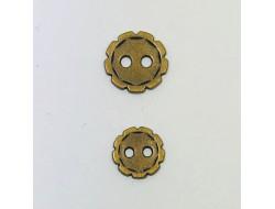 bouton métal bronze 10 et 12 mm