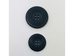 bouton noir 4 trous 34 et 45 mm