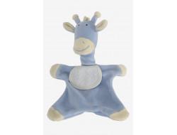 Doudou girafe bleu à broder
