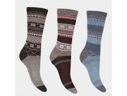 Chaussettes angora - Motifs norvégiens