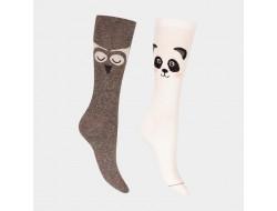 Chaussettes en angora - Panda ou Hibou
