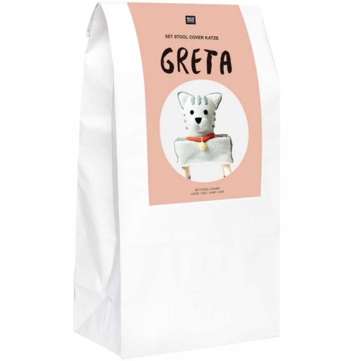 Kit Stool Cover - Le chat Greta
