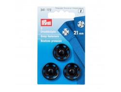 Bouton pression à coudre 21 mm - Noir