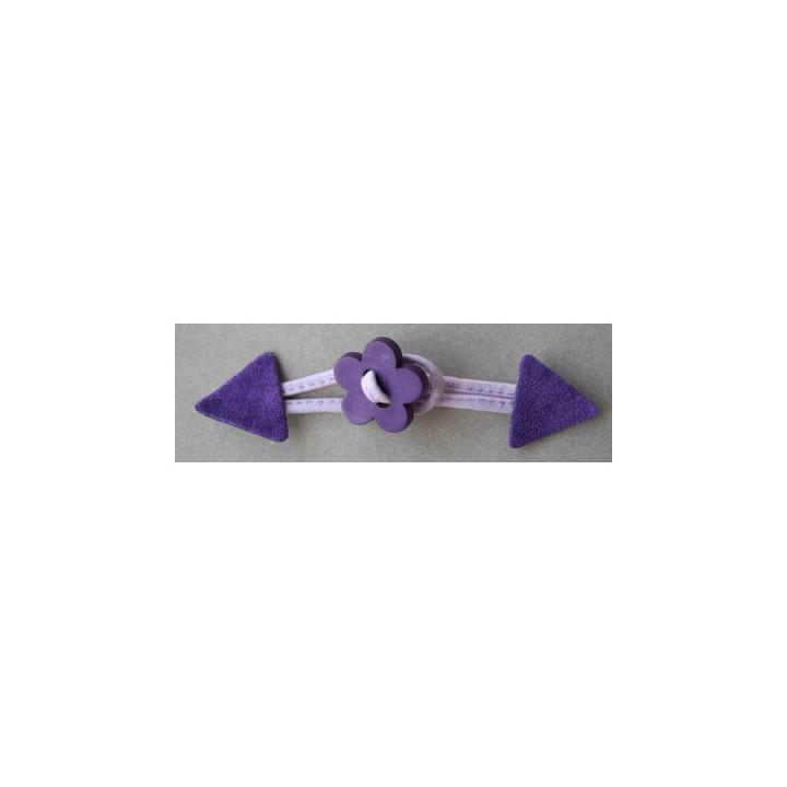 Brandebourg violet bouton fleur