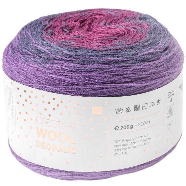Fil Creative Wool Dégradé - 70% acrylique 30% laine - Rico