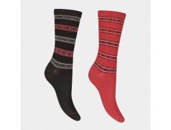 Chaussettes soie et coton - Formes géométriques