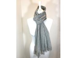 Écharpe laine rayures - Labonal