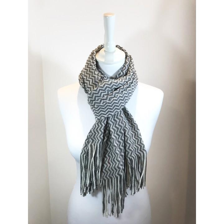 Écharpe laine chevrons - Labonal