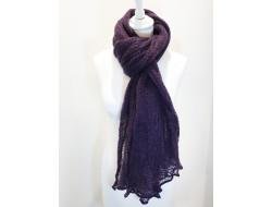 Écharpe mohair violet - Labonal
