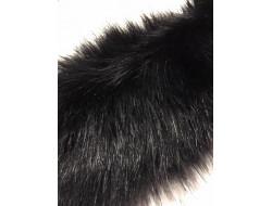 Fausse fourrure noire