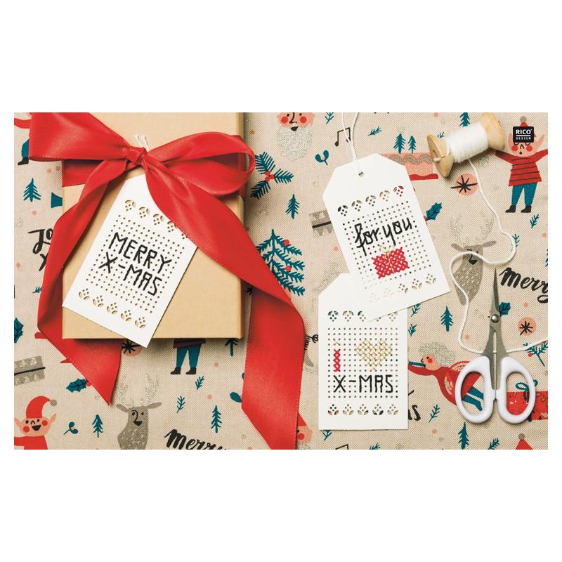 164 - Livre point de croix Jolly Christmas, RICO, Mercerie Floriane